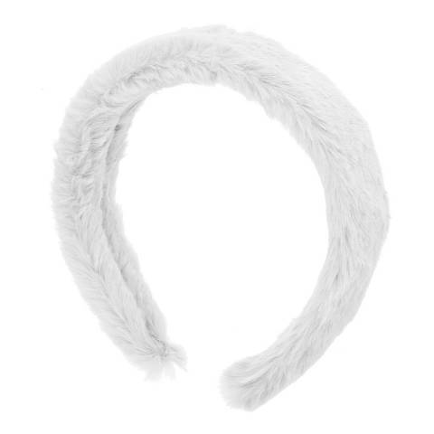 Amrita Singh Grey Faux Fur Headband