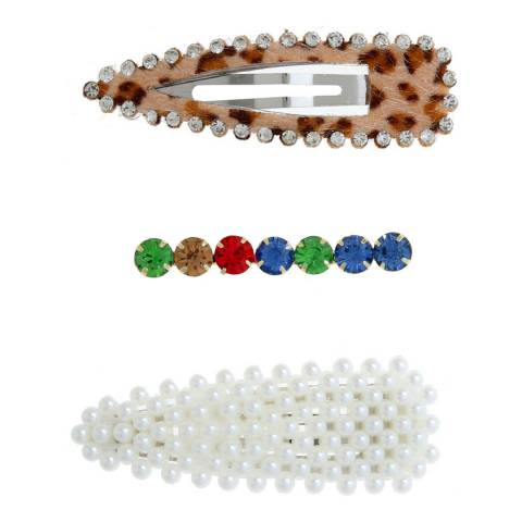 Amrita Singh Multi Hair Clips Set of 3