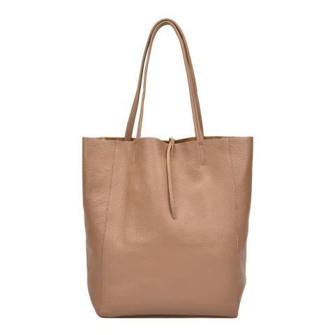 Sofia Cardoni Beige Leather Handbag