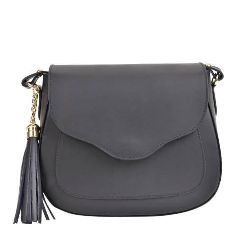 Mangotti Bags Black Leather Crossbody Bag