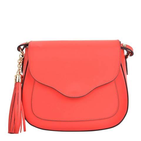 Mangotti Bags Red Leather Crossbody Bag