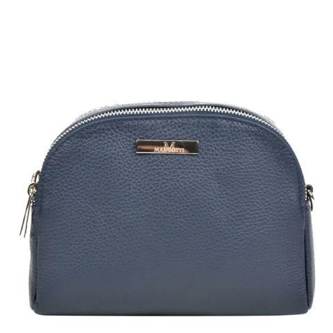 Mangotti Bags Navy Leather Crossbody Bag