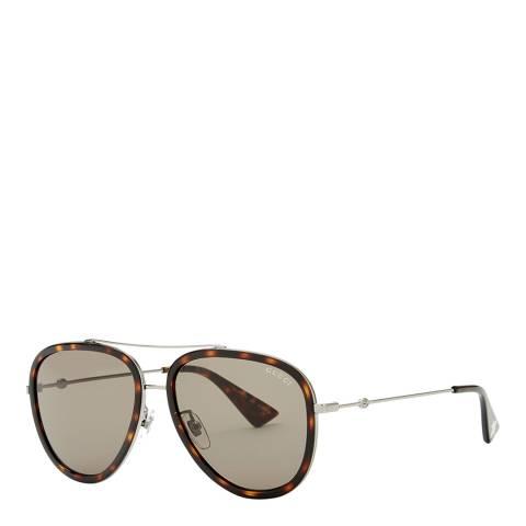 Gucci Women's Grey Gucci Sunglasses 57mm