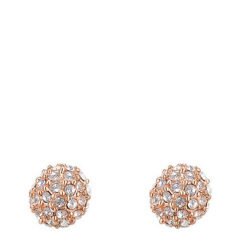 Ma Petite Amie Rose Gold Plated Round Stud Earrings with Swarovski Crystals