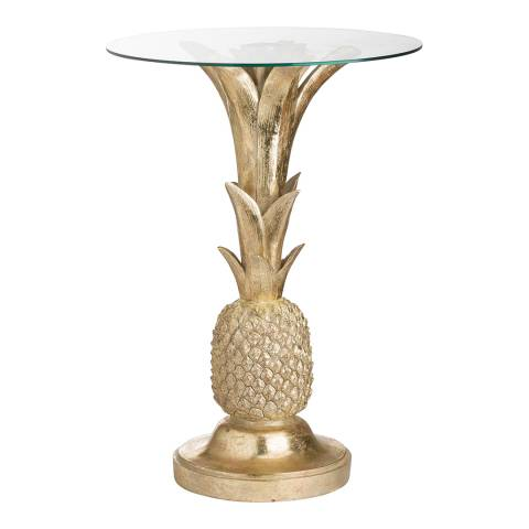 Hill Interiors Ashby Gold Pineapple Side Table