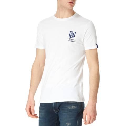Replay White Basic Logo T-Shirt