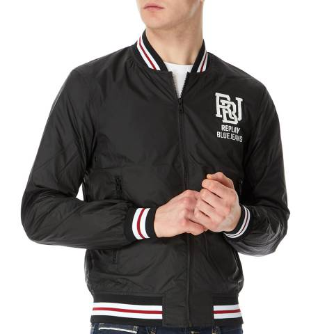 Replay Black Lightweight Bomber Jacket