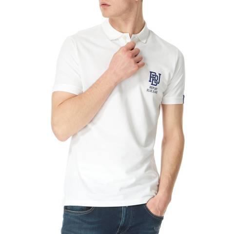 Replay White Logo Polo Shirt