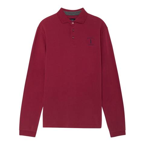 Hackett London Red Mr Classic Cotton Polo Shirt