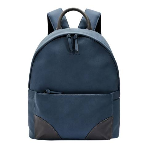 Ted Baker Blue Nubuck PU Backpack