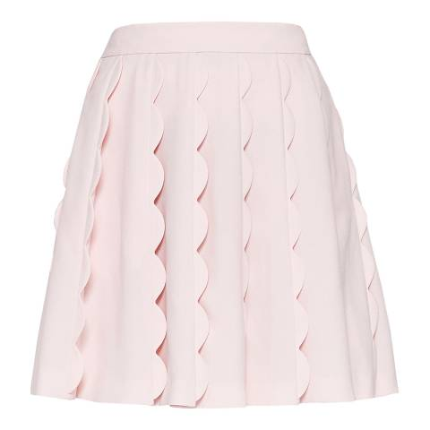 Ted Baker Baby Pink Poppay Scallop Mini Skirt