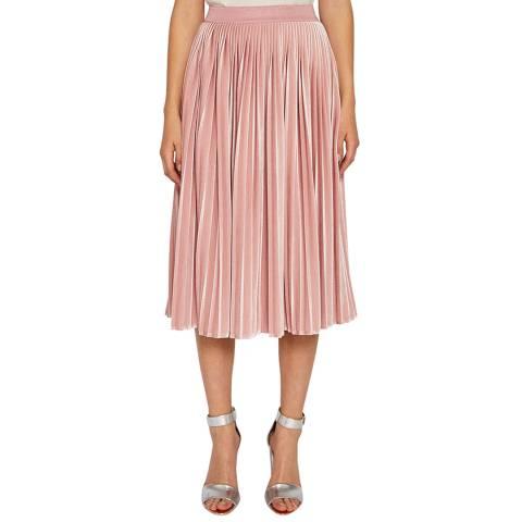 Ted Baker Light Pink Andalyn Pleat Midi Skirt