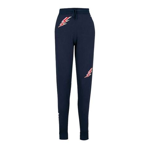 Ted Baker Navy Quane Lightning Cotton Blend Knit Joggers