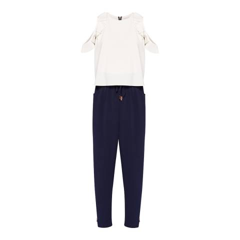 Ted Baker Navy Lulay Colourblock Jumpsuit