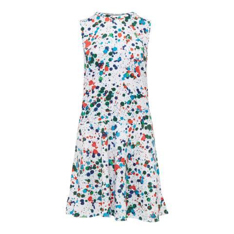 Ted Baker Ivory/Multi Krystin Bias Waist Dress