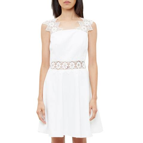 Ted Baker White Monaa Lace Shift Dress