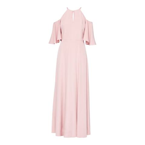 Ted Baker Dusty Pink Dulciee Cut Out Maxi Dress
