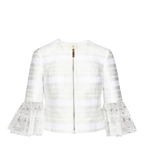 Ted Baker Natural Yandaa Jacquard Jacket