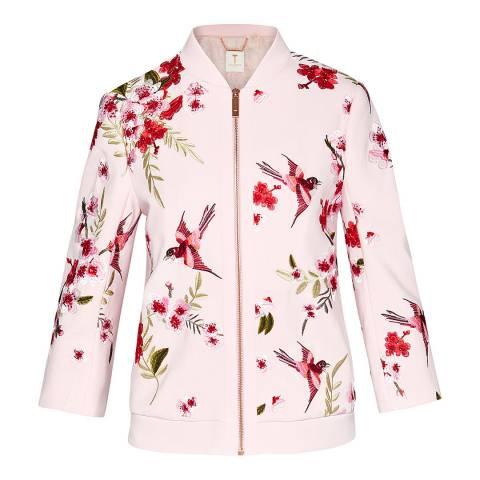 Ted Baker Pink Leelah Bloossom Spring Bomber Jacket