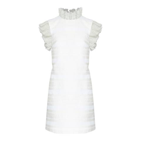 Ted Baker Natural Yandaa Jacquard Dress