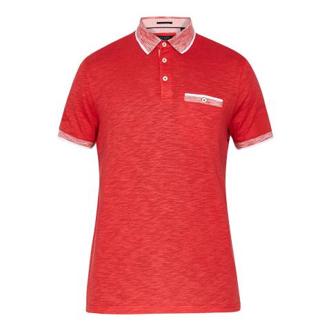 Ted Baker Red Dalmat Space Dye Polo Shirt