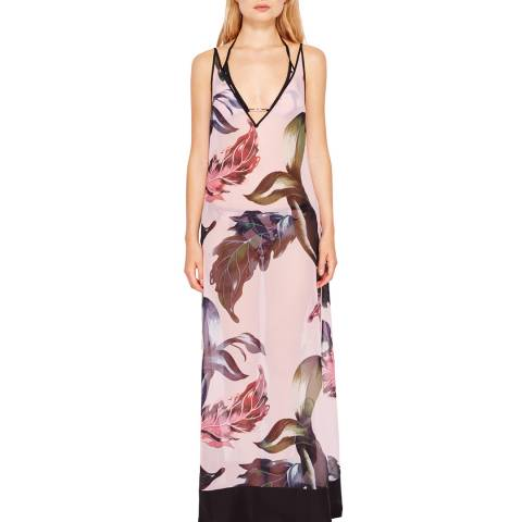Ted Baker Light Pink Edela Eden Print Maxi Cover Up