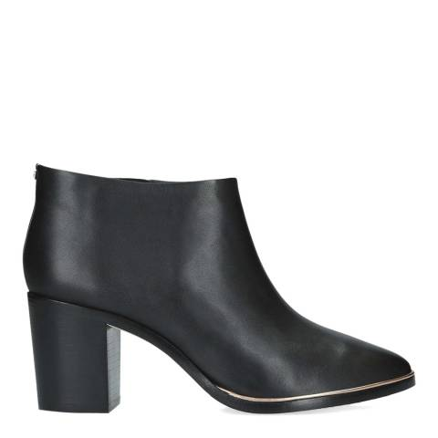 Ted Baker Black Hiharu 2 Leather Metallic Trim Ankle Boots