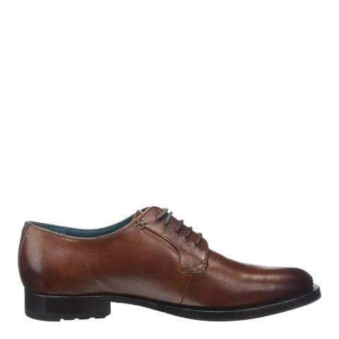 Ted Baker Brown Silice Leather Derby Shoes