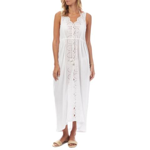 N°· Eleven White Broderie Anglaise Cover Up