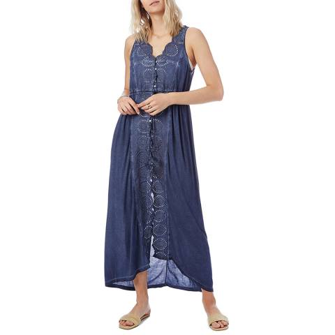 N°· Eleven Navy Broderie Anglaise Cover Up