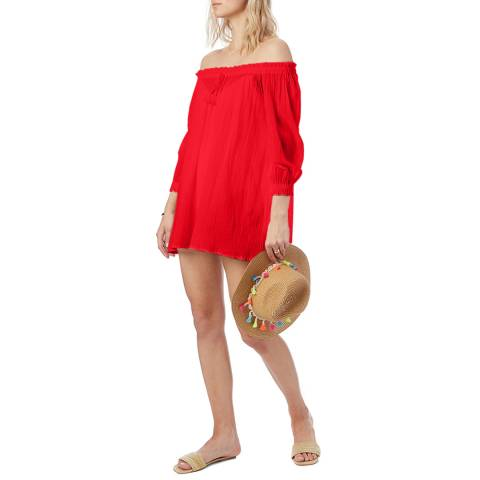 N°· Eleven Red Cotton Tunic