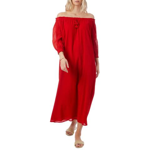 N°· Eleven Red Cotton Dress