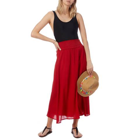 N°· Eleven Red Cotton Skirt