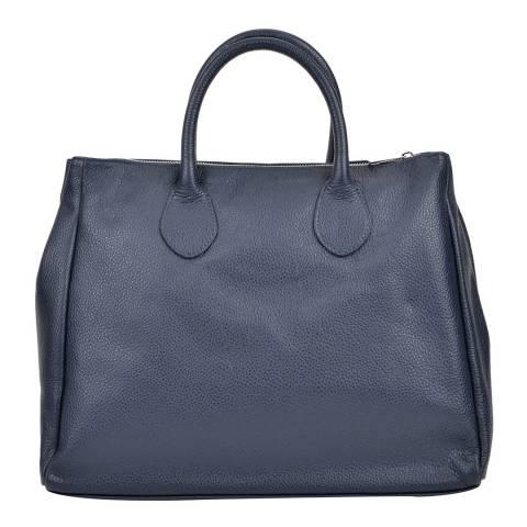 Sofia Cardoni Navy Leather Top Handle Bag