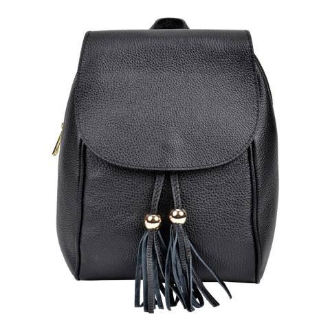 Sofia Cardoni Black Leather Backpack