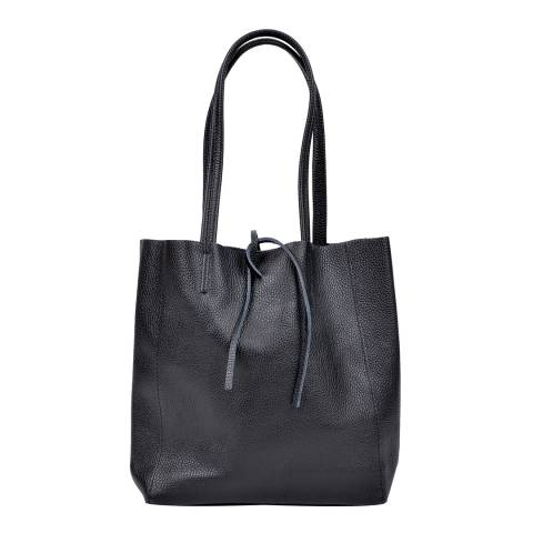 Sofia Cardoni Black Leather Handbag