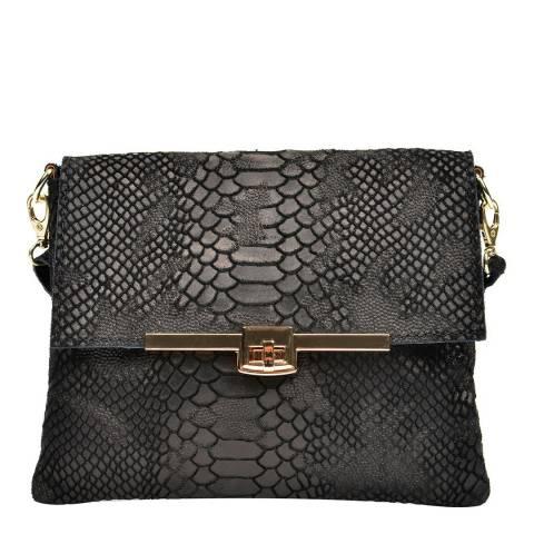 Sofia Cardoni Black Leather Crossbody Bag