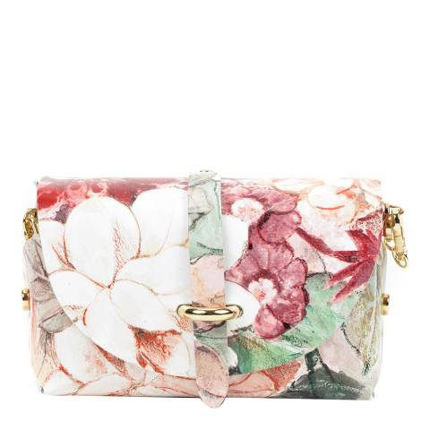 Sofia Cardoni Pink/Beige Leather Crossbody Bag