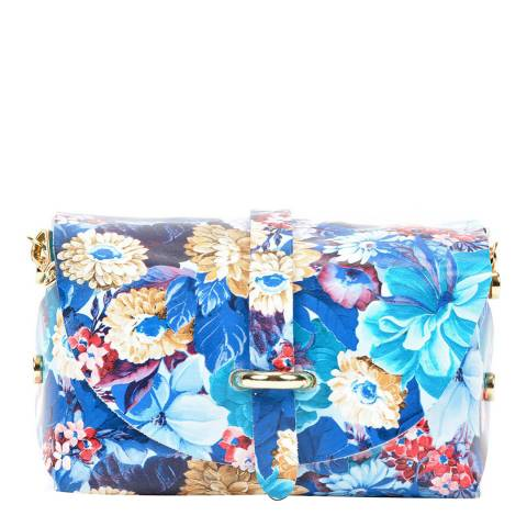 Sofia Cardoni Blue Leather Crossbody Bag