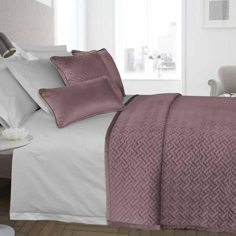 Limited Edition French Velvet 135x220cm Bedspread, Blush