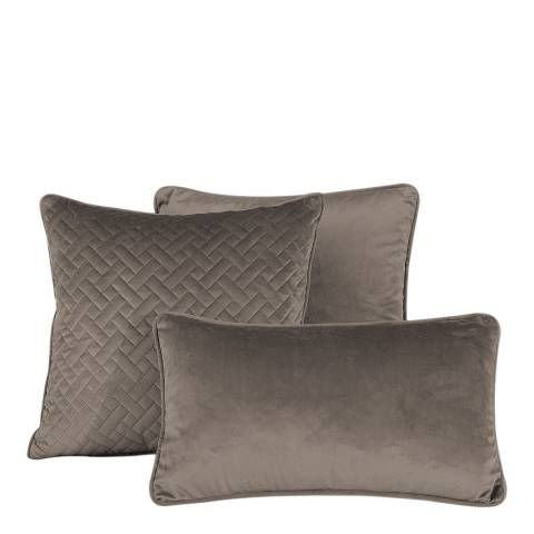 Limited Edition French Velvet 45x45cm Cushion Cover, Taupe