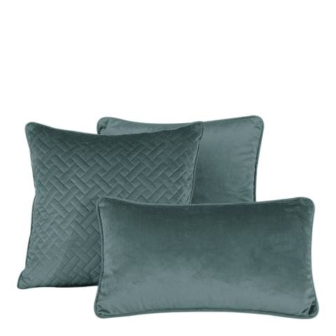 Limited Edition French Velvet 45x45cm Cushion Cover, Teal