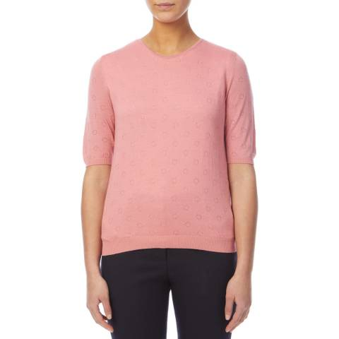 PAUL SMITH Pink Wool/Silk Blend T-Shirt