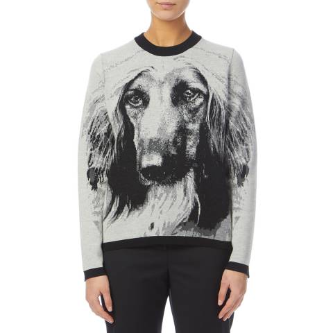 PAUL SMITH Grey/Black Hound Wool Jumper