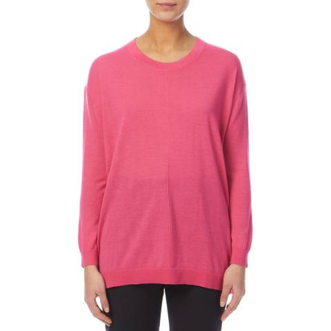 PAUL SMITH Pink Oversized Wool Blend Jumper