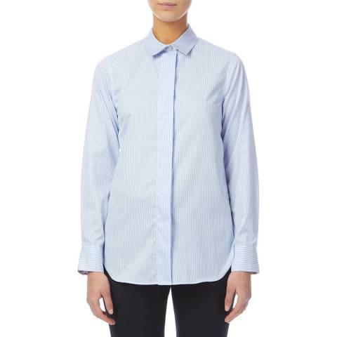 PAUL SMITH Light Blue Striped Cotton Shirt