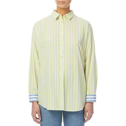 PAUL SMITH Green Stripe Relaxed Cotton Shirt