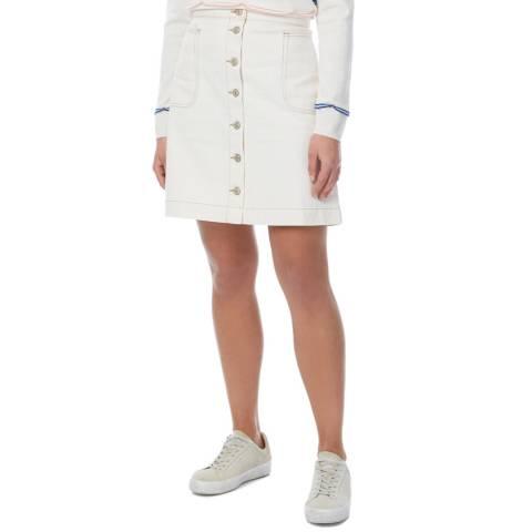 PAUL SMITH White Button Down Midi Skirt