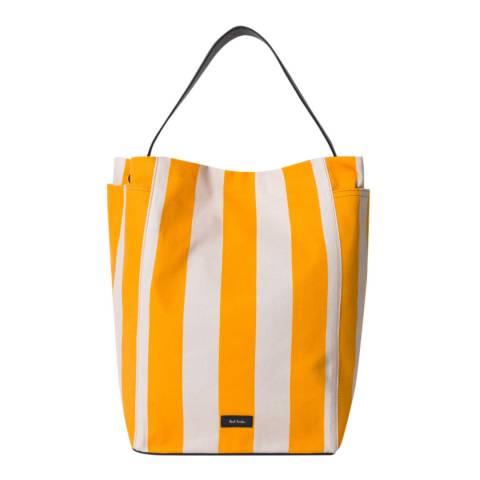 PAUL SMITH Yellow Stripe Hobo Canvas Bag