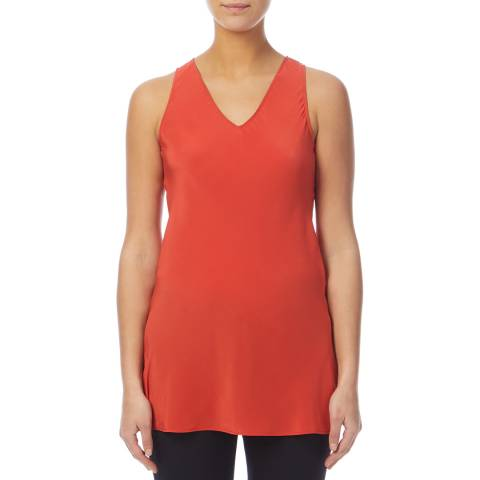 PAUL SMITH Red Silk Cami Top